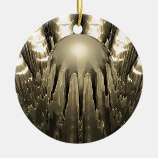 Guld- Fractal Julgransprydnad Keramik