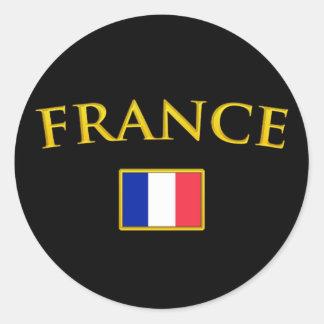 Guld- frankriken runt klistermärke