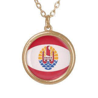 Guld- franska Polynesia för fullföljandehalsband Guldpläterat Halsband