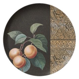 Guld- frukt tallrik