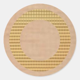 Guld- gåvafilnamn - Scotch glass för smör Runt Klistermärke