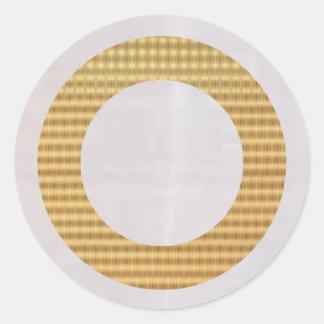 Guld- gåvafilnamn - silkeslent månsken runt klistermärke