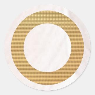 Guld- gåvafilnamn - vitpärla runt klistermärke