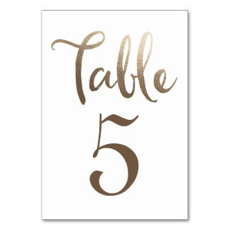 Guld- gifta sig bordsnummertypografikort