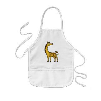 Guld- giraff med bruna fläckar barnförkläde