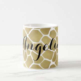 Guld- girafftryckpersonlig kaffemugg