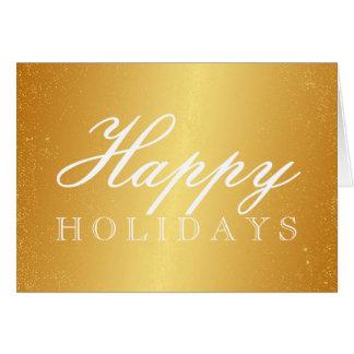Guld- glad helgkort hälsningskort