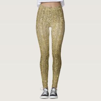 Guld- Glam Shimmer Leggings