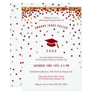 Guld- glitter för rödbrun Faux för 12,7 X 17,8 Cm Inbjudningskort