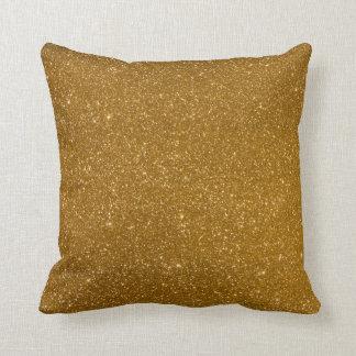 Guld- glitter prydnadskudde
