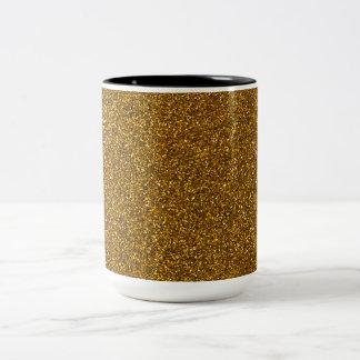 Guld- glitter Två-Tonad mugg
