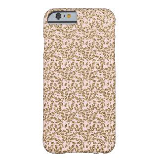 Guld- glitterdamast på rosor barely there iPhone 6 fodral