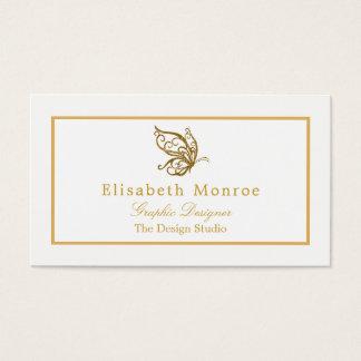 Guld- glitterfjäril för vintage visitkort