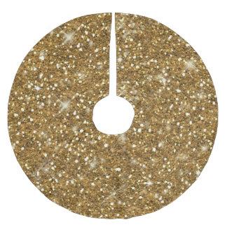 Guld- glittermönster ID144 Julgransmatta Borstad Polyester