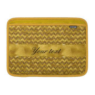 Guld- glittersparrar för glamorös Faux MacBook Sleeve