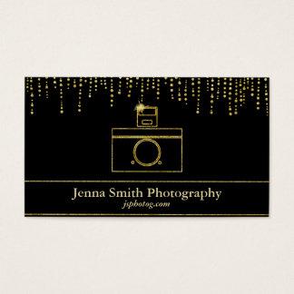 Guld- gnistrakamerafotograf visitkort