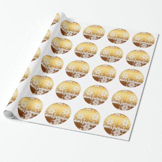 Guld- god julsnöflingor som slår in papper presentpapper