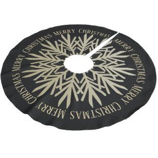Guld- god julSnowflake för elegant Faux Julgransmatta Borstad Polyester
