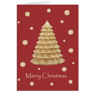 Guld- god julträdkort hälsningskort