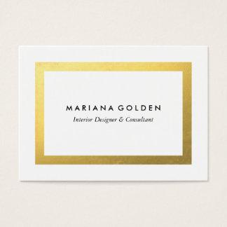 Guld- gräns på knubbig visitkortmall visitkort