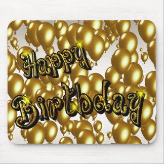 Guld- grattis på födelsedagen musmatta