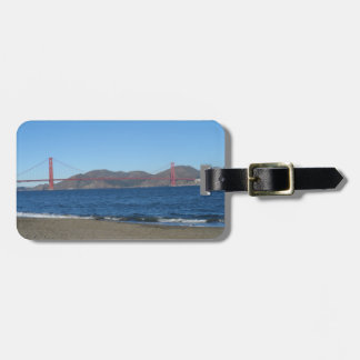 Guld- grindbro San Francisco Bagagebricka