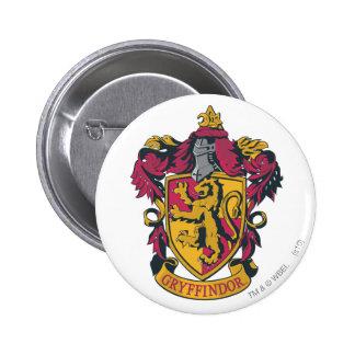 Guld- Gryffindor vapensköld som är röd och Nål