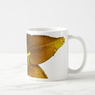 Guld- gul lilja kaffemugg