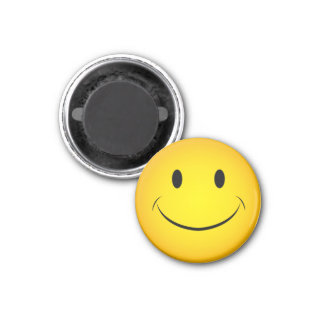 Guld- gul smiley facemagnet magnet