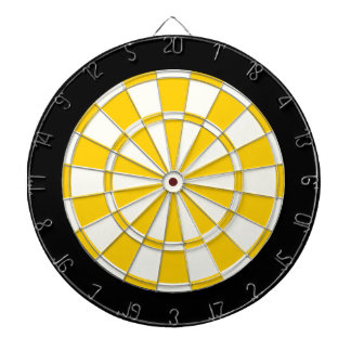 Guld- gult svartvitt piltavla