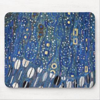 Guld- Gustav Klimt för art nouveaublått mönster Musmatta