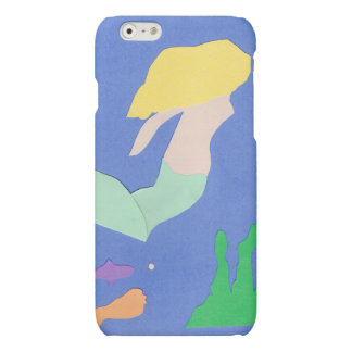 Guld--haired sjöjungfru- & fiskiphone case
