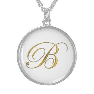 Guld- halsband för Monogram B