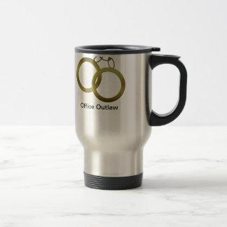 Guld- handbojor reser kaffemuggen rostfritt stål resemugg