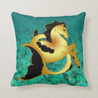 Guld- havshäst dekorativ kudde