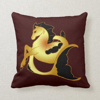 Guld- havshäst kuddar