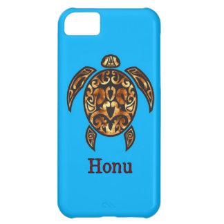 Guld- hawaiansk havssköldpadda på havblått iPhone 5C fodral