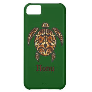 Guld- hawaiansk havssköldpadda på havgrönt iPhone 5C fodral