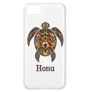 Guld- hawaiansk havssköldpadda på vit iPhone 5C fodral