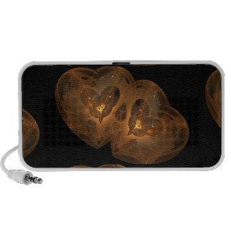 Guld- hjärtaFractal Laptop Högtalare