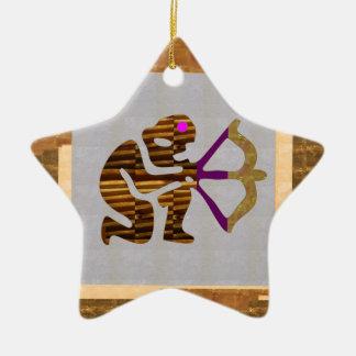 Guld- HÖGVÄRDIGA gåvor för VINTAGE: TIP för pil Julgransprydnad Keramik