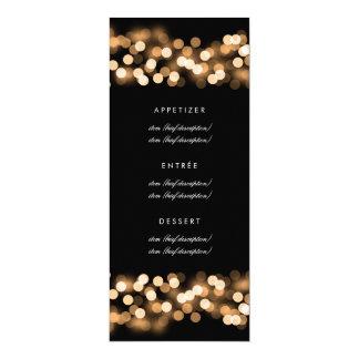 Guld- Hollywood för elegant bröllopmeny Glam 10,2 X 23,5 Cm Inbjudningskort
