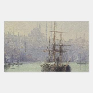 Guld- Horn av Ivan Aivazovsky Rektangulärt Klistermärke