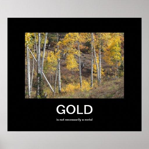 Guld- höstDemotivational affisch