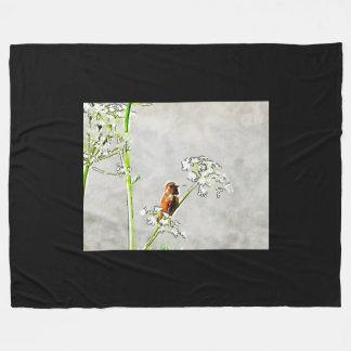 Guld- hummingbird fleecefilt