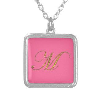 Guld- initialt halsband för Monogram M