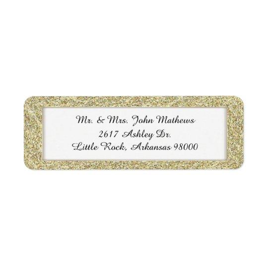 Guld inramad beställnings- returadressetikett 2 returadress etikett