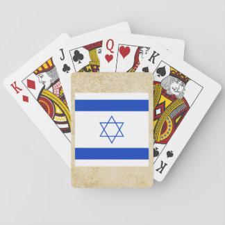 Guld- Israel flagga Spel Kort