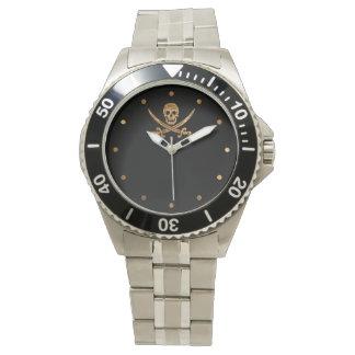 Guld- Jolly Roger Armbandsur
