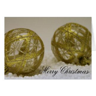 Guld- jul Ornamentts Hälsningskort